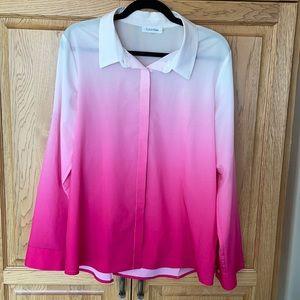 Calvin Klein Pink Ombré Blouse